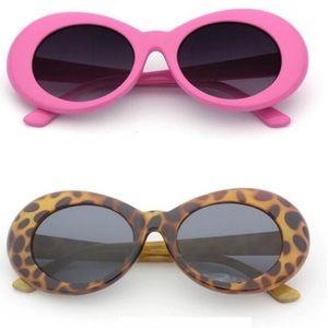 Retro Oval sunglasses 🕶 Pink & Leopard NWT